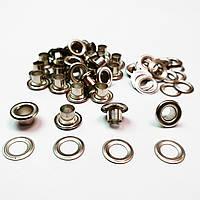 Люверс для карсета  8мм (№5) Серебристый никель, Турция (100шт)
