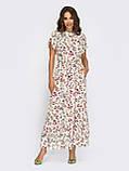 Довга сукня в квітковому принте ЛІТО, фото 4