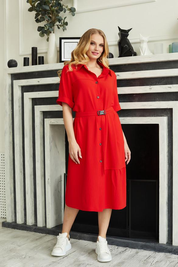 Батальное платье-рубашка 50,52,54,56,58,60 размер