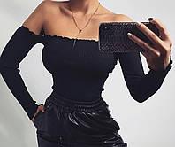 Жіноча стильна кофточка з відкритими плечима, фото 1