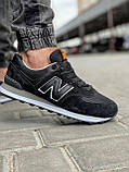 Кросівки чоловічі 18029, New Balance 574, чорні, [ 41 42 43 44 45 46 ] р. 41-26,5 див., фото 6