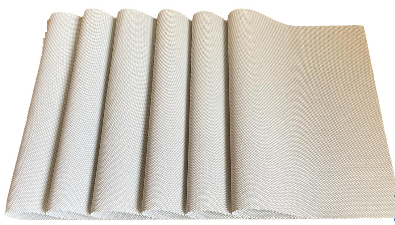 Набор сервировочных ковриков под тарелки, подставки под горячее Набор 6шт 30*45 см Светло-серый