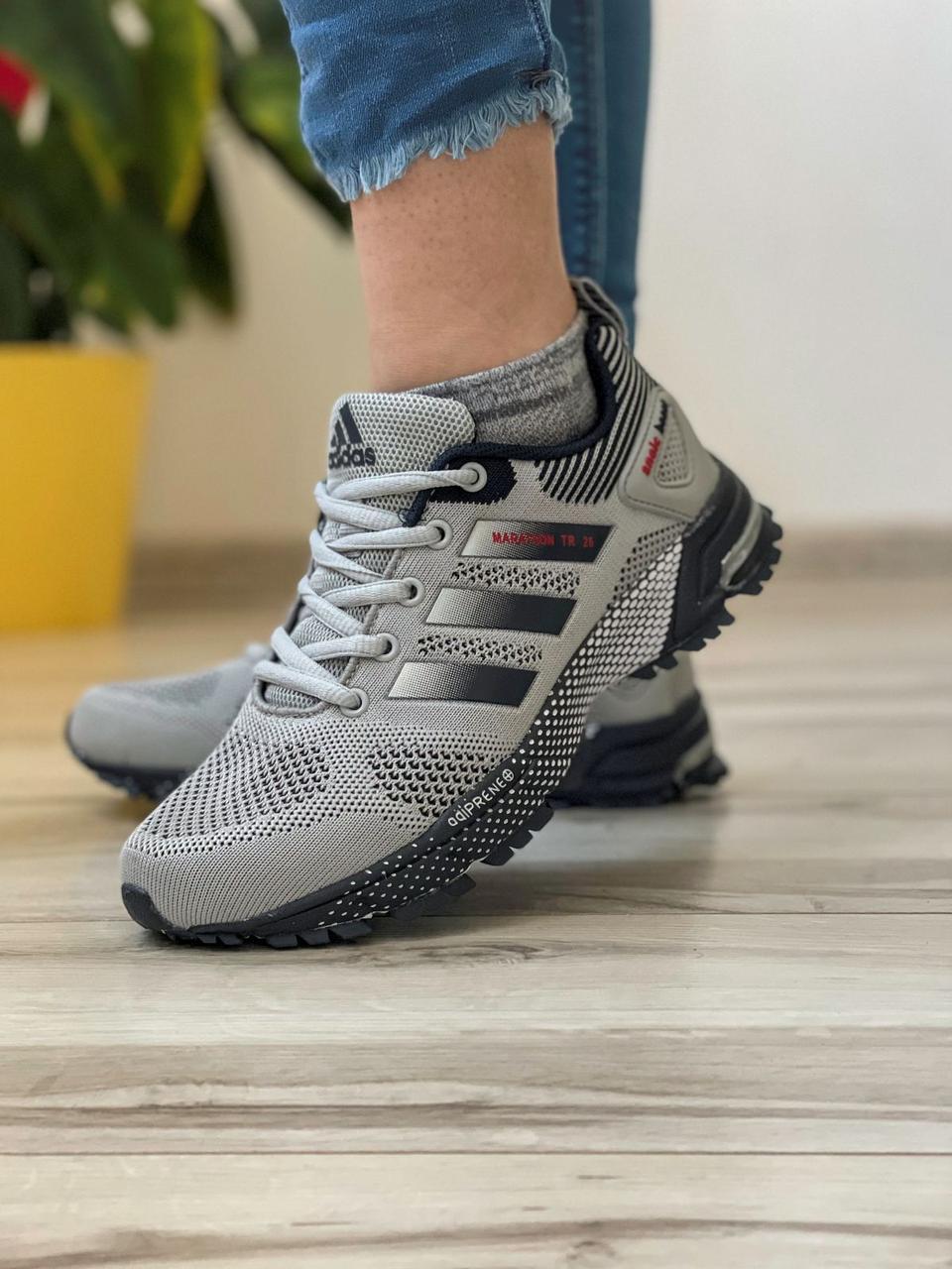 Кросівки жіночі 18571, Adidas Marathon Tr 26, сірі, [ 37 38 39 40 41 ] р. 37-24,0 див.