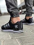 Кроссовки мужские 18591, Adidas, черные [ 44 46 ] р.(41-26,5см), фото 4