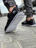 Кроссовки мужские 18591, Adidas, черные [ 44 46 ] р.(41-26,5см), фото 5