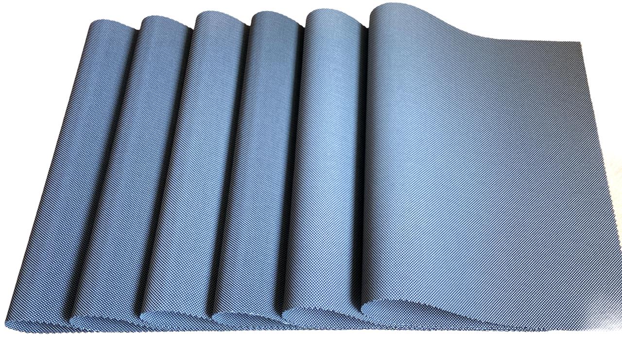 Набор сервировочных ковриков под тарелки, подставки под горячее Набор 6шт 30*45 см Темно-серый