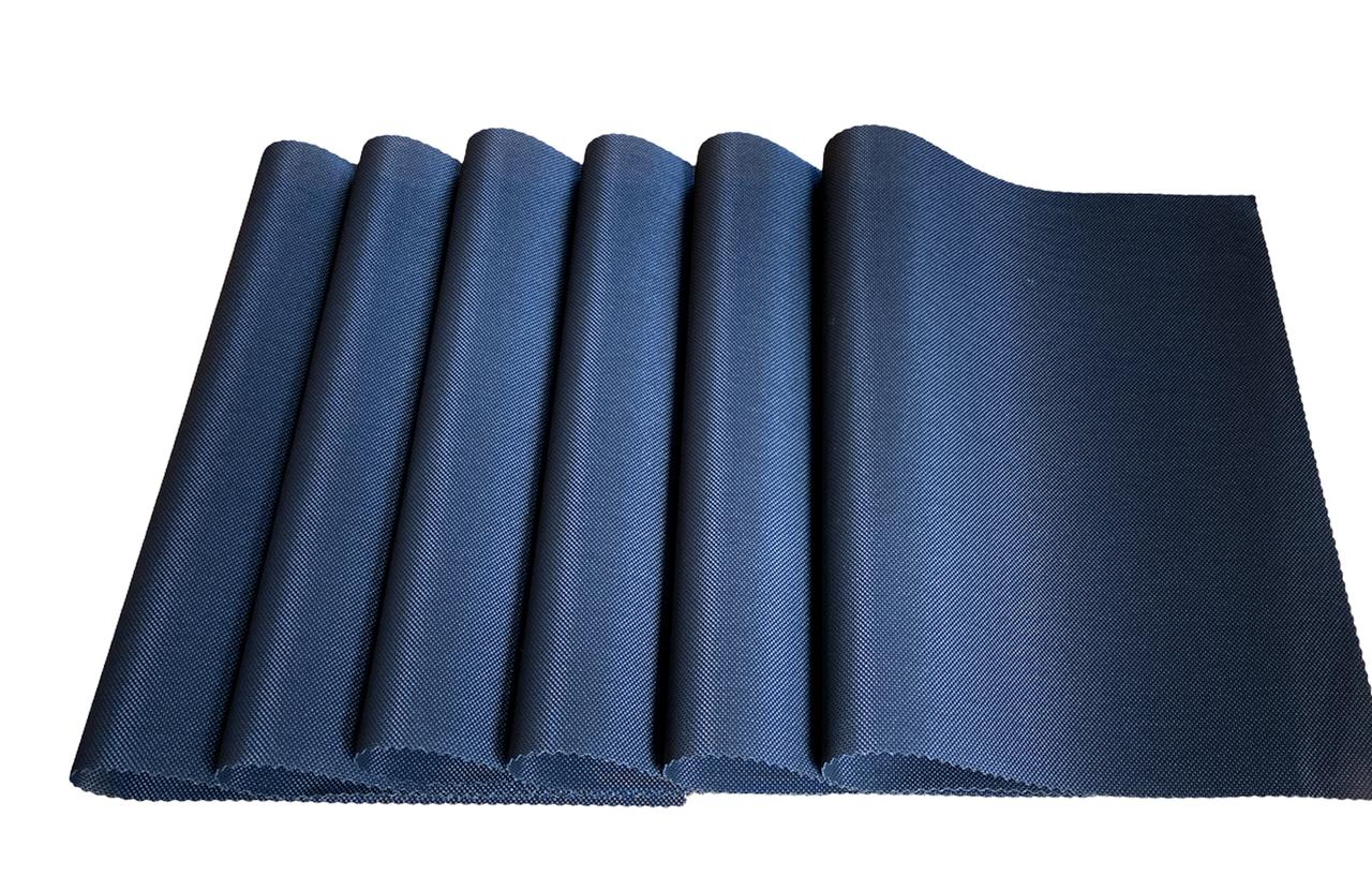 Набір сервірувальних килимків під тарілки, підставки під гаряче Набір 6шт 30*45 см Чорний