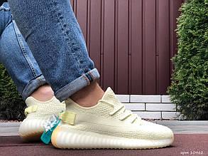 Летние кроссовки Adidas x Yeezy Boost 350 v2 (Изи буст),лимонные
