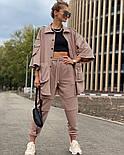 Жіночий костюм спортивний вільного крою на манжетах, фото 3