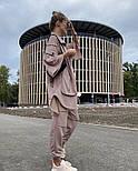 Жіночий костюм спортивний вільного крою на манжетах, фото 4