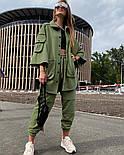 Жіночий костюм спортивний вільного крою на манжетах, фото 6