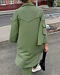 Жіночий костюм спортивний вільного крою на манжетах, фото 8