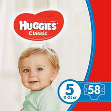 Подгузник Huggies Classic 5 Mega 58 шт (5029053543192)