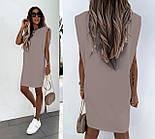 Женское платье-футболка летнее Оверсайз, фото 2