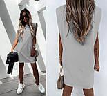 Женское платье-футболка летнее Оверсайз, фото 5