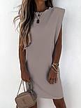 Женское платье-футболка летнее Оверсайз, фото 3