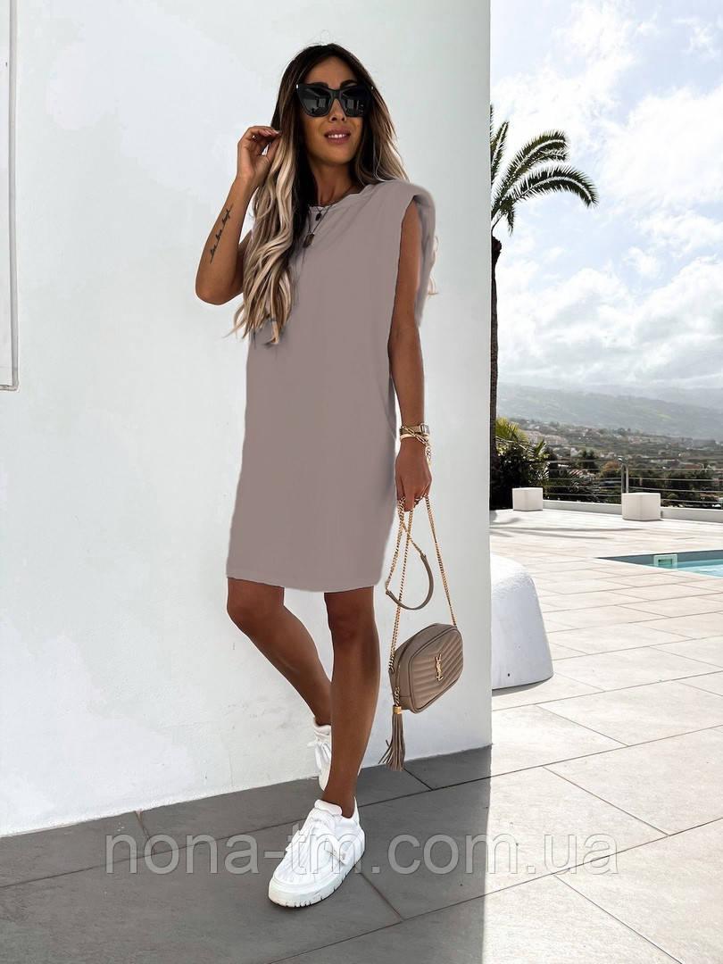 Женское платье-футболка летнее Оверсайз