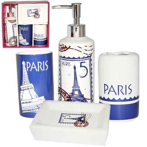 Набір аксесуарів для ванної кімнати 4 предмета Париж Snt 888-06-013