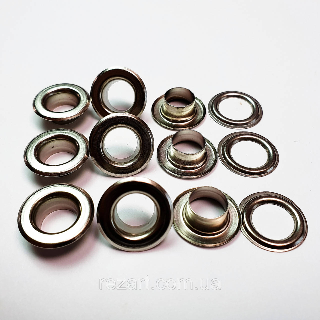 Люверсы для трикотажа 10мм (№24) Серебристый никель, Турция (50шт)