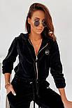 Женский спортивный велюровый костюм на манжетах, фото 5