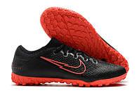 Футбольные сороконожки Nike Mercurial Vapor XIII Pro TF Black/Red Orbit