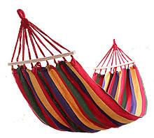 Мексиканський підвісний гамак з планками Original 2х1 м Різнобарвний (RI0412)