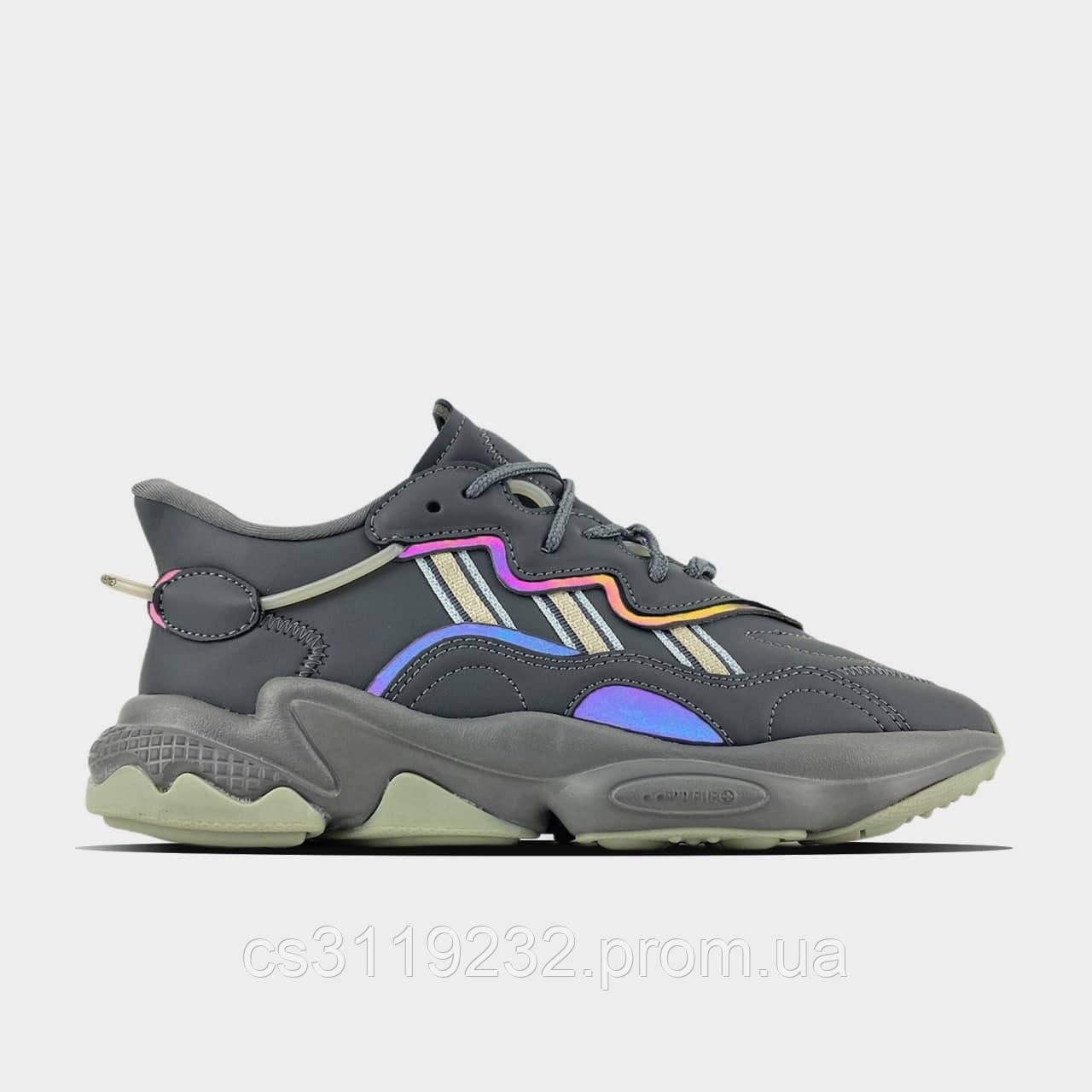 Жіночі кросівки Adidas Ozweego Triple Grey (сірі)