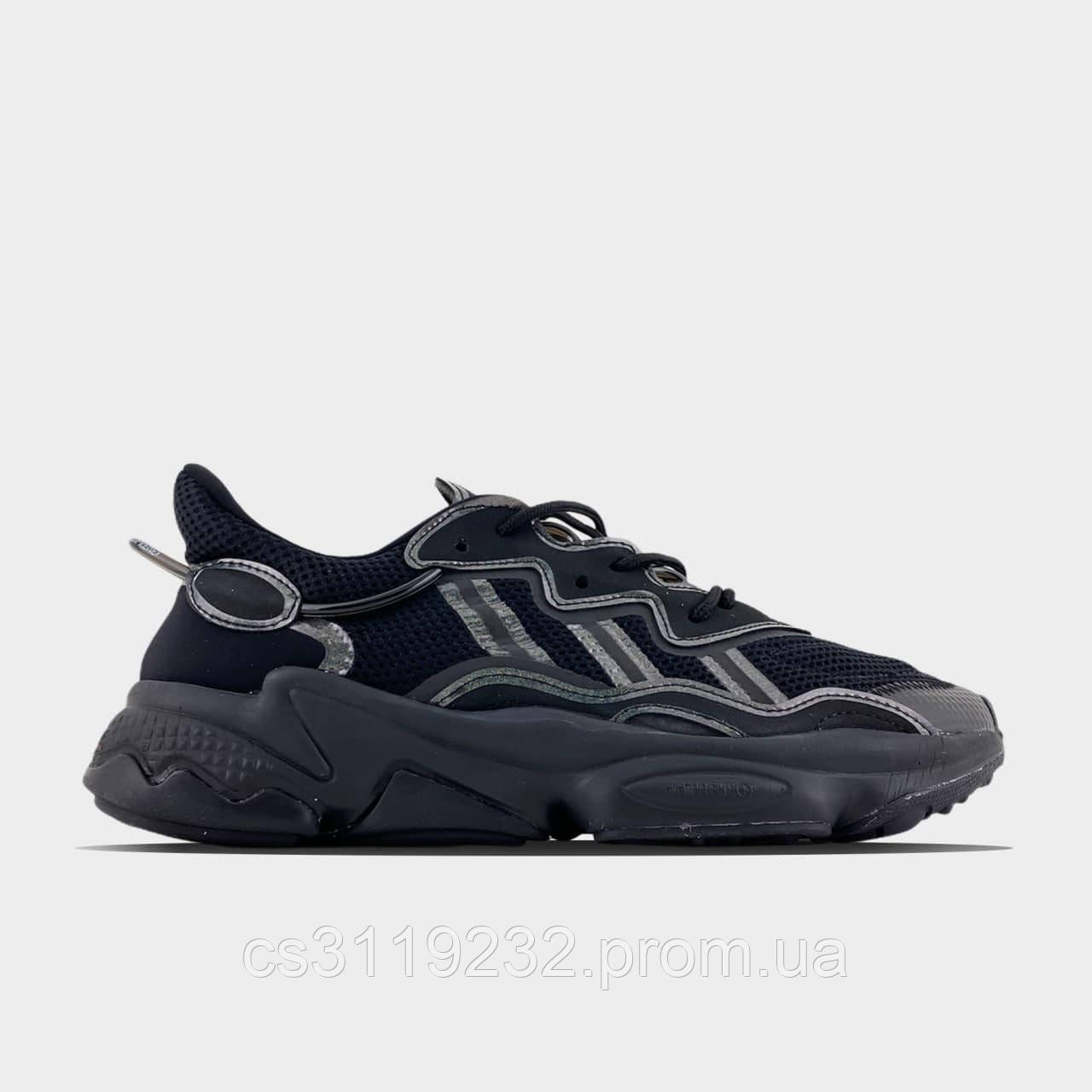 Мужские кроссовки Adidas Ozweego Black (черный)