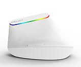 Бездротова безшумна вертикальна миша з підсвічуванням Delux M618C RGB Black White, фото 6