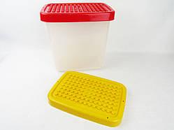 Бокс контейнер для зберігання іграшок з кришкою