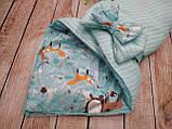 Нарядный конверт, одеяло для новорожденного, фото 3