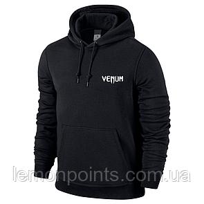Мужская толстовка с капюшоном, худи, кенгурушка Venum (Венум) черный