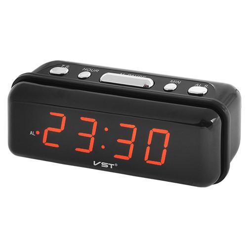 Настольные часы электронные красные цифры VST, 220V