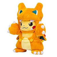 М'яка плюшева іграшка Пікачу в костюмі жовтий 2