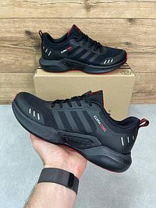 Мужские спортивные кроссовки Climacool All Black\Red