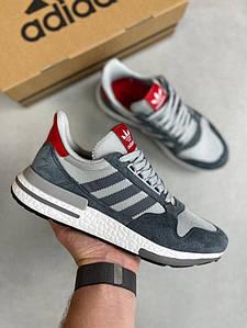 Мужские кроссовки Adidas ZX 500 RM Grey Four Scarlet