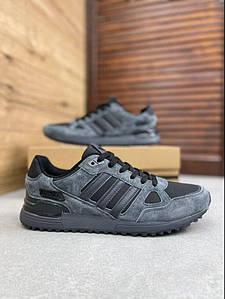 Мужские кроссовки Adidas ZX 750 Черный \ Темно-серый