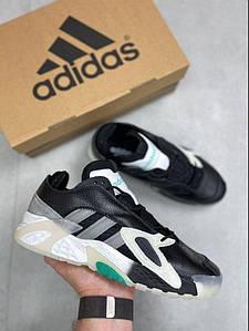 Кроссовки мужские Adidas Streetball черный с зеленым