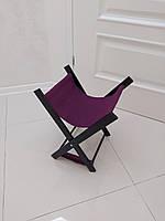 Подставка для сумки, черный каркас с фиолетовым текстилем