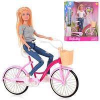 Кукла DEFA на велосипеде 8361-BF