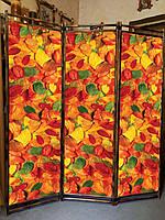 """Ширма  декоративная в комнату  """"Осенние листья """" 170х150см"""