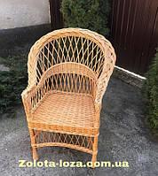 Кресло плетеное из лозы. Арт: 1344
