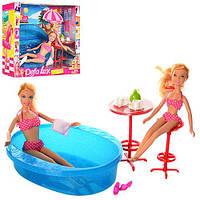 """Игровой набор Defa Lucy """"Летний отдых"""" / Кукла Defa Lucy 8255 с сестричкой у бассейна"""