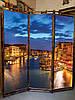 """Ширма  для дома """"Ночная Венеция"""" 170х150см"""