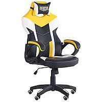 Крісло VR Racer Dexter Jolt чорний/жовтий, TM AMF