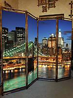 """Ширма для  дома """"Бруклинский мост """" 170х200см"""