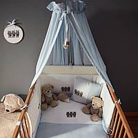 Балдахин на кроватку BEAR3 170*148 голубой