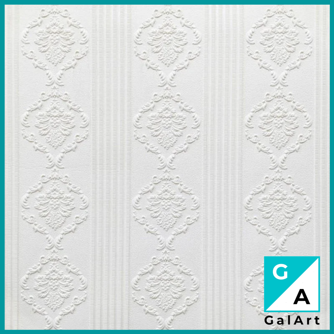 Самоклеящаяся декоративная 3D панель белая на потолок, стену 700*700*5мм потолочные 3д панели на самоклейке