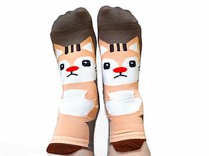Шкарпетки жіночі Золото з принтом темні розмір 36-41