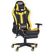 Крісло VR Racer Dexter Rumble чорний/жовтий, TM AMF